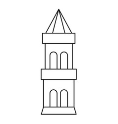 battle tower guarding the fortress icon vector image vector image