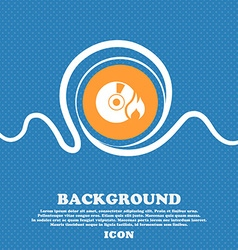CD icon sign Blue and white abstract background vector image vector image