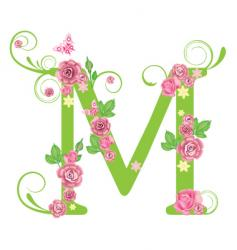 floral typography vector image