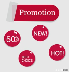 Set of sticker price tags vector image vector image