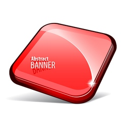 Shiny red banner vector image vector image