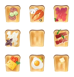 toasts set vector image
