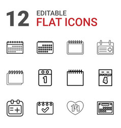 12 appointment icons vector