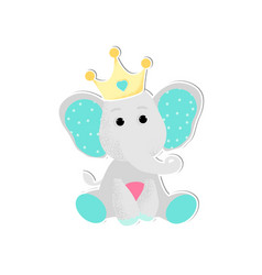 a cute baelephant vector image