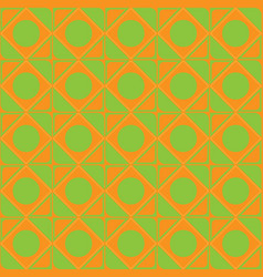 abstract ornament of orange green shades seamless vector image