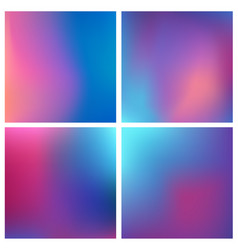 abstract purple blurred background set 4 vector image