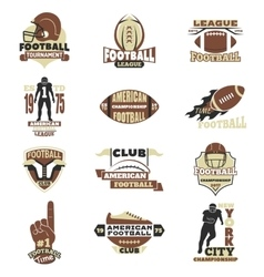 American football sign set vector