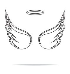 Angel wings icon outline1 vector image