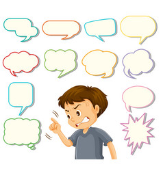 angry man with speech balloon vector image