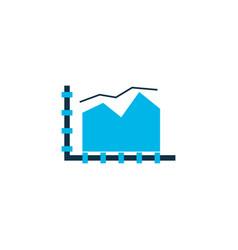 Area line chart icon colored symbol premium vector