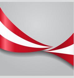 Austrian wavy flag vector