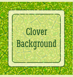 Background clover vector