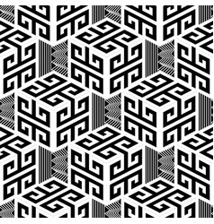 black and white geometric greek style vector image