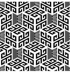 Black and white geometric greek style vector