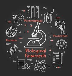 black concept microscope bio research vector image