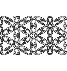 black fabric flower petals flat seamless pattern vector image