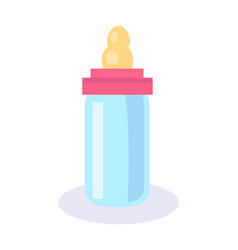 bottle with soother poster vector image