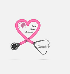 Breast cancer october awareness month campaign vector