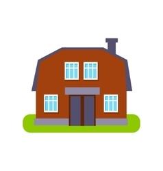 Brown Barn Suburban House Exterior Design vector