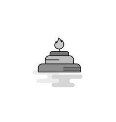 burner web icon flat line filled gray icon vector image