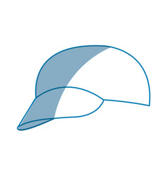 Cap sport accessorie trourist design vector