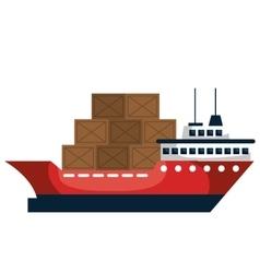 Cargo ship delivery service vector