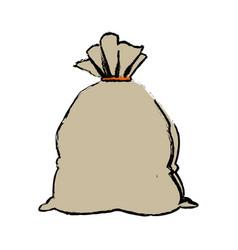 Cartoon bag money banking safe icon vector