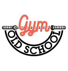 color vintage gym emblem vector image