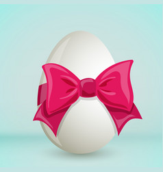 colorful easter egg with bow vector image