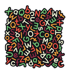 colorful mixed alphabet background vector image