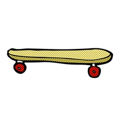 comic cartoon skateboard vector image