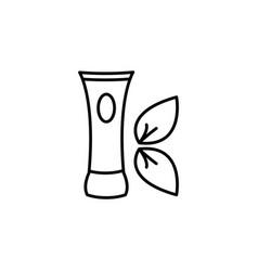 Cream icon black vector