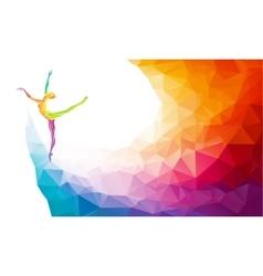 Creative silhouette of gymnastic girl vector