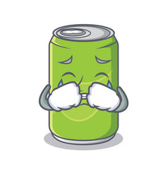 Crying soft drink character cartoon vector