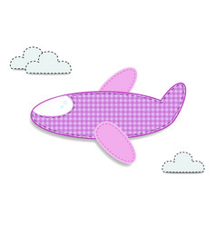 Cute baby girl clip art airplane for scrapbooking vector