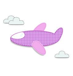 Cute bagirl clip art airplane for scrapbooking vector