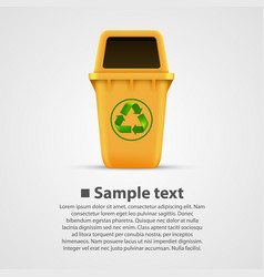 ecological trash vector image