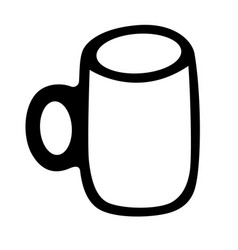 Empty mug hand drawn sketch isolated on white vector