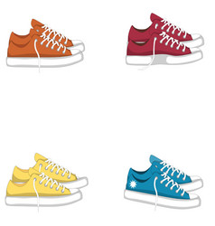 fashionable woman s shoes snickers isolated vector image