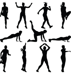 fitness woman vector image vector image