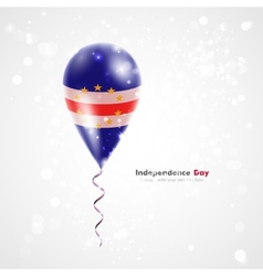 Flag of Cape Verde on balloon vector image