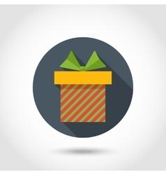 flat Gift box vector image