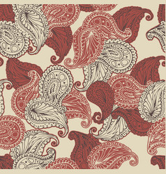 Flower paisley seamless pattern vector
