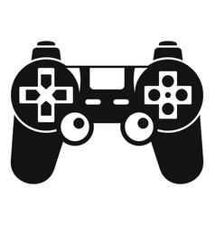 gamepad control icon simple style vector image