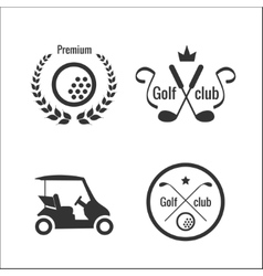 Golf icons and labels vector image