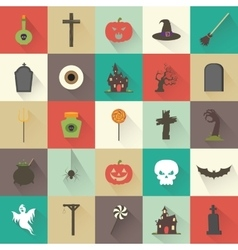 Halloween objects vector