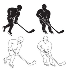 hockey vector image