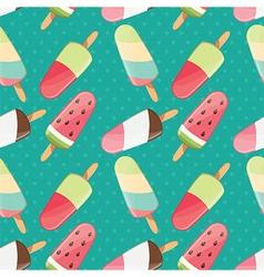 Ice cream seamless pattern summer background vector
