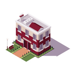 isometric educational building architecture of vector image