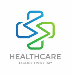 Letter s health care logo design vector